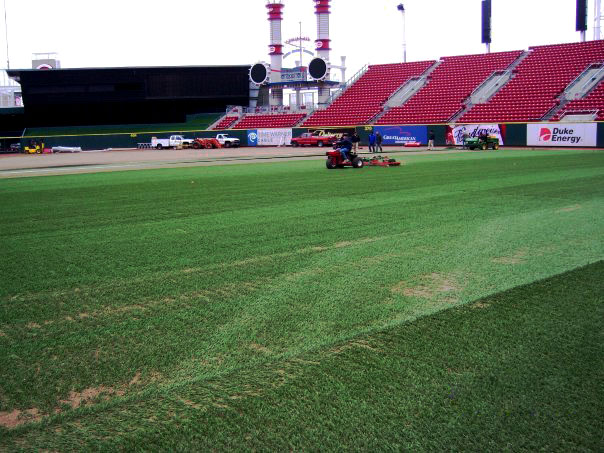 Baseball Field Construction for the Cincinnati Reds | Baseball Field Installer in Cincinnati, Ohio | Power Plus Excavating