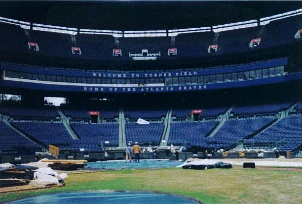 Baseball Field Installation for the Atlanta Braves - MLB | Baseball Field Installation in Atlanta, Georgia | Power Plus Excavating