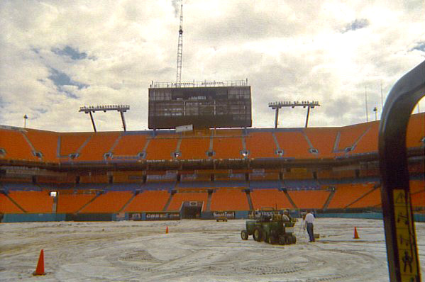 Football Field Construction and Installation for the Miami Dolphins - Football field Installer   Power Plus Excavating