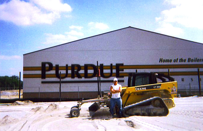 Football Field Construction and Installation for Purdue University - Football Field Installer | Power Plus Excavating