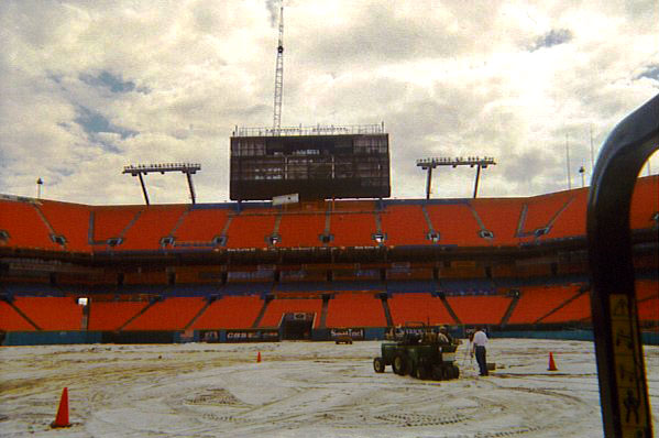 Miami Dolphins Sports Field Installation | Sports Field Installer | Power Plus Excavating