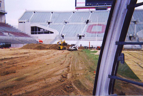 Football Field Installation for The Ohio State Buckeyes | Football Field Installation & Construction in Columbus, Ohio | Power Plus Excavating