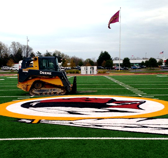 Synthetic Turf Football Field Installation | Power Plus Excavating